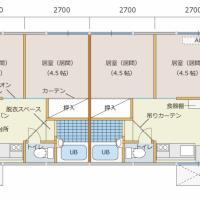 【振り返り・仮設住宅】間取り図(2DKタイプ)