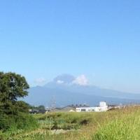 富士山が初冠雪(2012年9月12日)