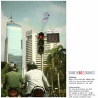 ジャカルタの信号広告
