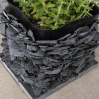 雄勝石の鉢植えカバーを作りました