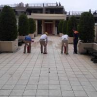 マンションで行われた防災訓練に参加しました