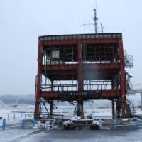 雪の日の防災総合庁舎