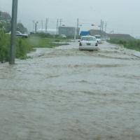東北、この一枚。(4)増水した女川町中心部