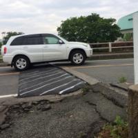 【熊本地震点景】国道の段差