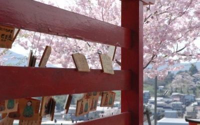 大船渡に桜咲く。何事もなく無事にとの祈りとともに