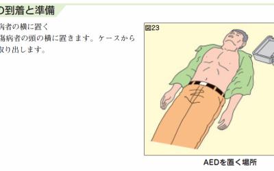AED、高い設置率、低い使用率 ~AEDの使用手順について~