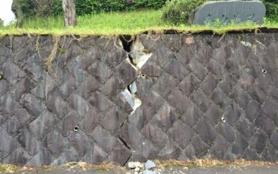 【熊本地震点景】石を割った震度7の力