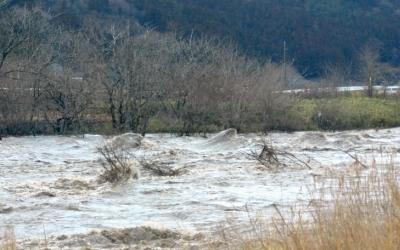 3月9日、集中豪雨の波涛