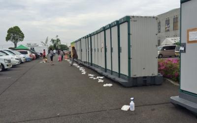 【熊本地震点景】仮設トイレの事情