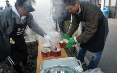 その2.わっぱ煮会場【粟島「島びらき」】