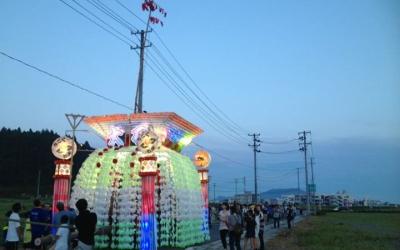 まさに今日陸前高田の七夕山車が動きだす