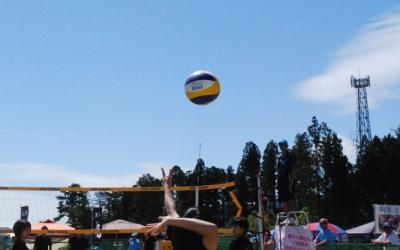 陸前高田で開催された国体のビーチバレー