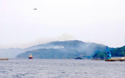 釜石の山林火災で目撃した自衛隊ヘリのヘビーローテーション