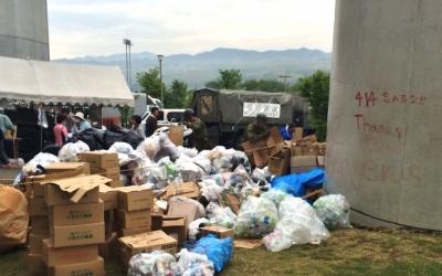 【熊本地震点景】自衛隊がゴミの分別?