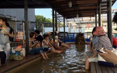 熱海駅前ロータリーの足湯「家康の湯」
