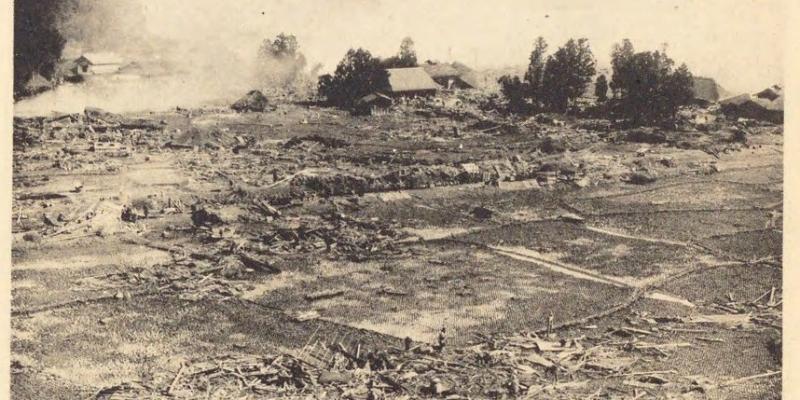 戦争の足音の中にあった昭和三陸津波