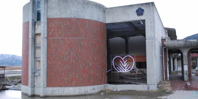 大川小学校に新しいイルミネーション