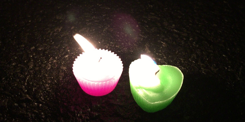 東日本大震災から5年、富士の麓から哀悼の灯り