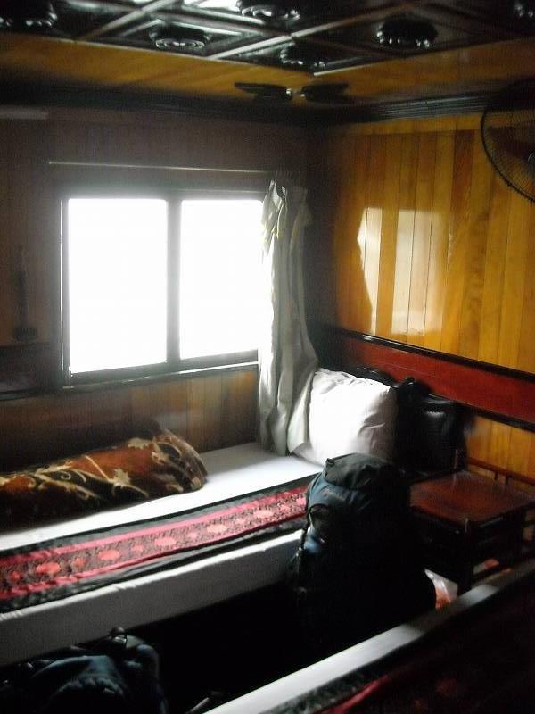 船の部屋。二人部屋