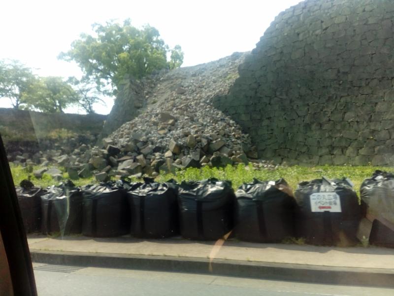 崩落した石垣1