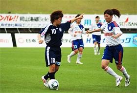 2011.6.11 vs新潟 MFとしてなでしこジャパンでも大活躍。決勝のアメリカ戦では1ゴール1アシストを記録。