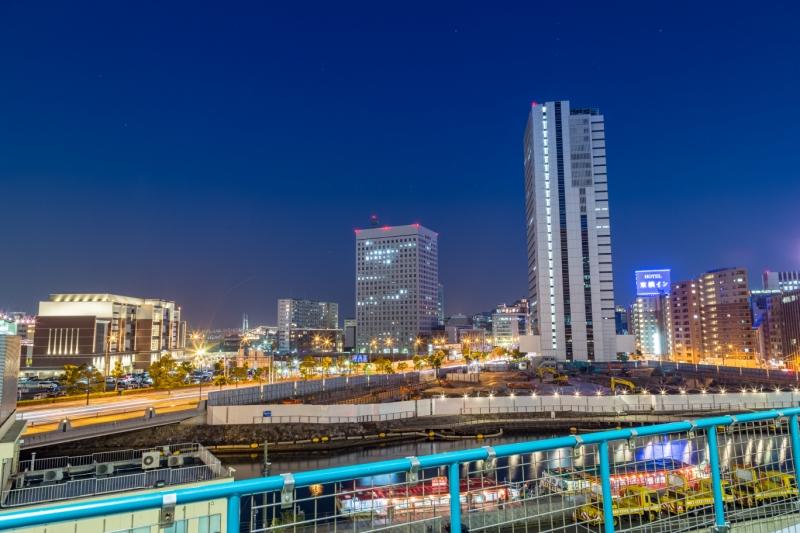 遠いですが横浜港大さん橋に豪華客船が停泊してます