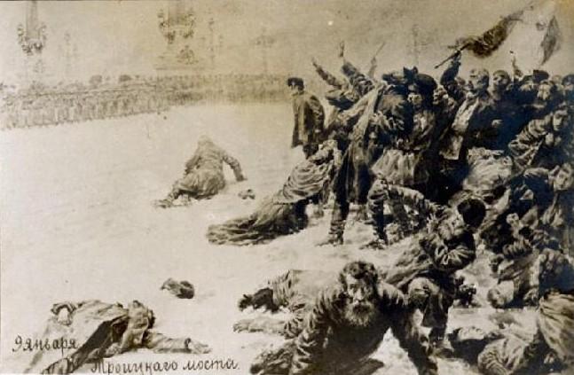 軍隊による襲撃を描いた絵画(Wikipediaより)