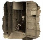 当時はみんなこんな木造住宅に住んでいたのだとか。(昭和33年3月21日撮影)