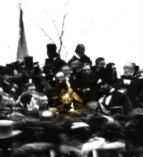ゲティスバーグでのリンカーン