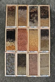 世界の土は12種類に分類でき、色もさまざま。