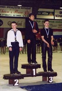 中3初めての国際大会ベルギーケンペン大会で優勝。