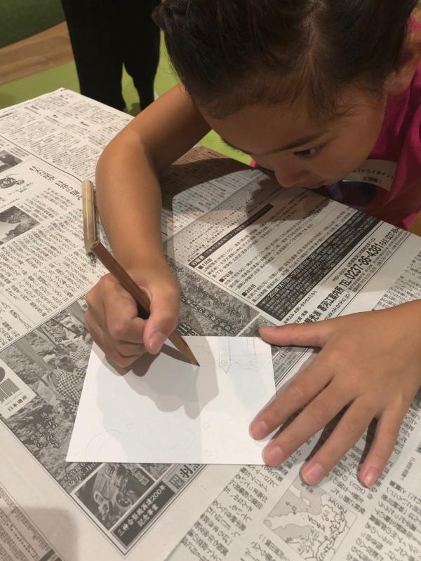 娘も街を描きました