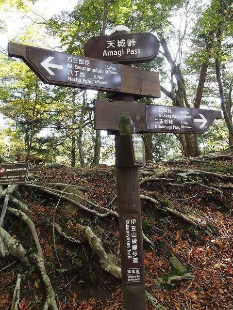 天城峠を示す標識