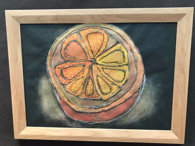 「ボンド絵」によるオレンジ。It's so cool.