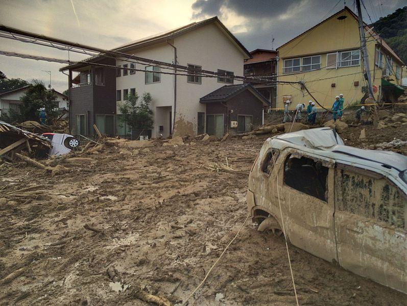 広島土砂災害2014年8月20日(出典:ウィキメディア・コモンズ)