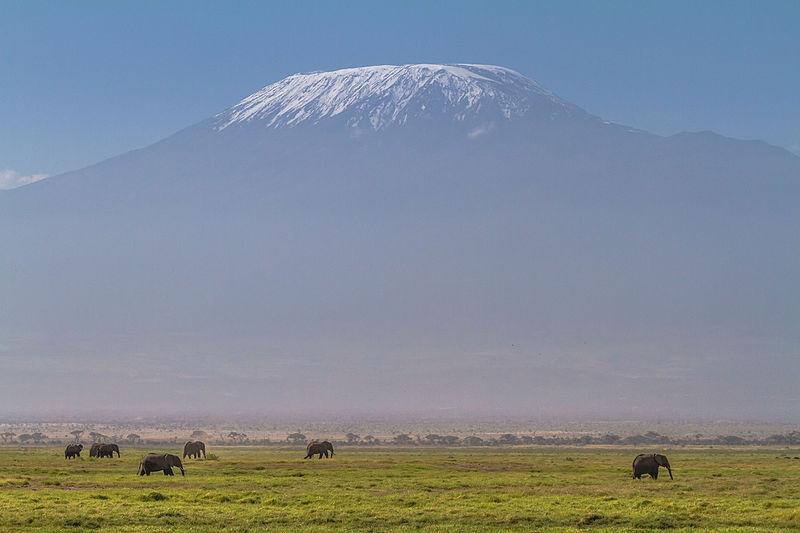 ケニア・アセンボリ国立公園からのキリマンジャロ