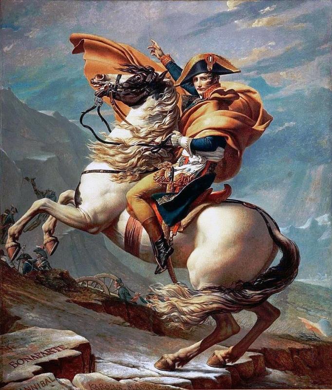 ジャック=ルイ・ダヴィッド『サン=ベルナール峠を越えるボナパルト』