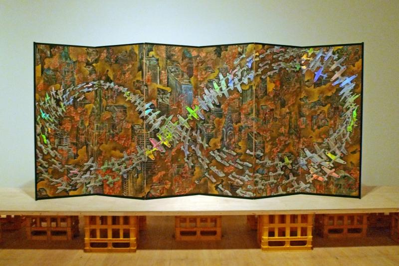 「紐育空爆之図(戦争画RETURNS)」1996 高橋コレクション蔵