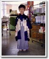 5歳の頃七五三。あどけない表情