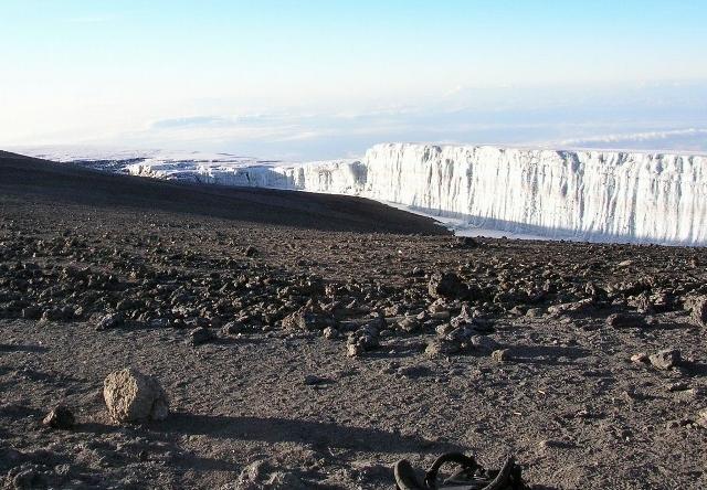 山頂の氷河