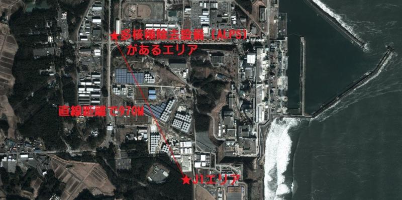 地図蔵(http://japonyol.net/)の地図で距離測定: Google マップに加筆