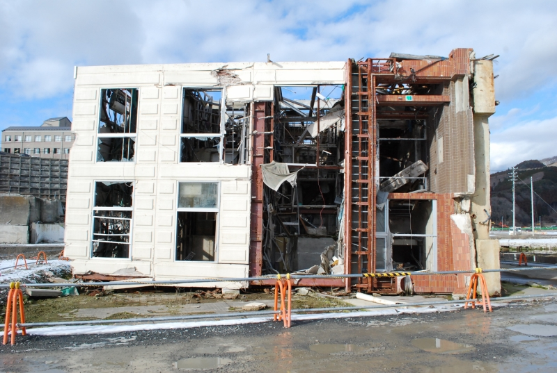 時間が経過しても、建物の様子には変化がほとんど見られない(2013年1月)