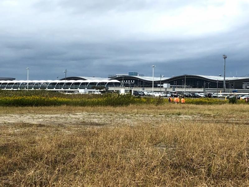 コースの近くには仙台空港