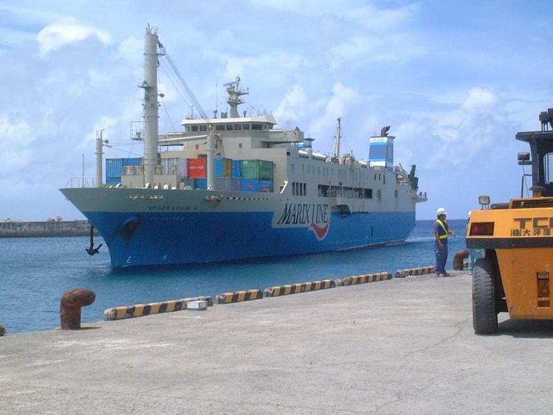 沖永良部島に到着するクイーンコーラル8