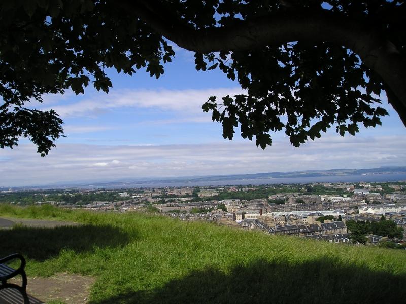 小高い丘の公園「カールトン・ヒル」からの眺めです。