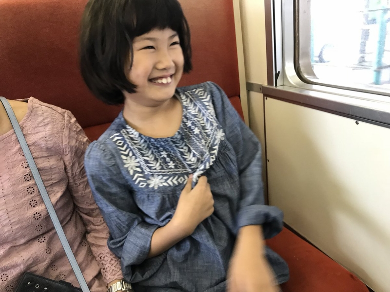 この日は見えていない富士山の方を見て突然なぜか爆笑する娘。かーわいい♪
