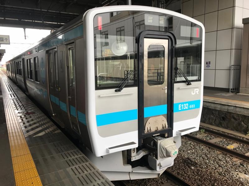 この電車で久慈駅を目指します。
