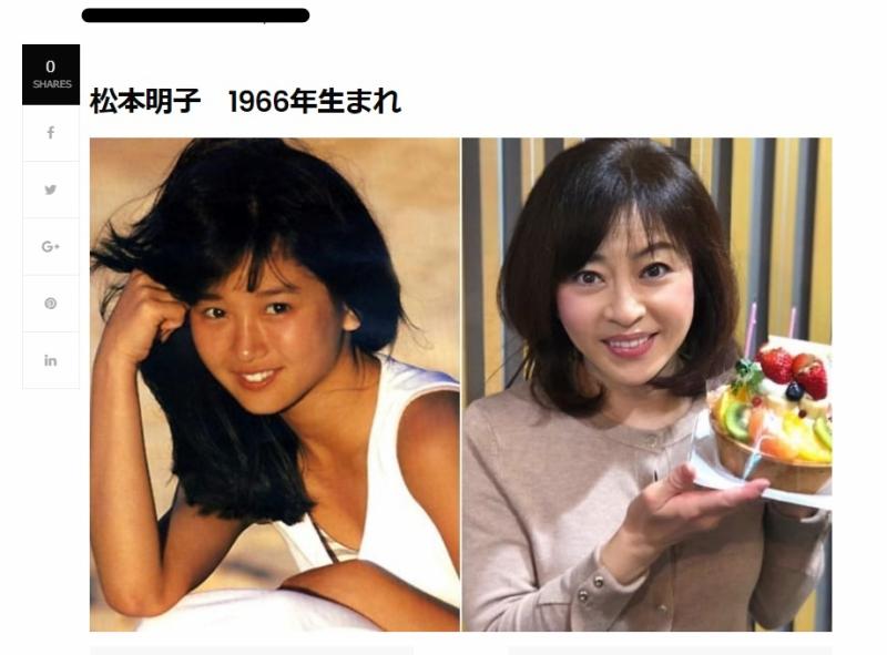 左は惜しまれつつ亡くなった本田美奈子です。生まれ年は1つ違いの2人ですが「芸風」は「かすりもしない」ですよね。