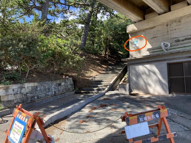 上の橋脚が136号線