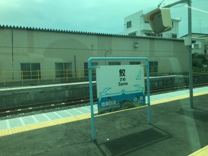 通るたびに気になるこの駅名。(名前の由来は魚の鮫とは関係がないようです)